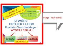 plakat konkursu na logo SP Chodziez
