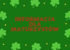 Info dla maturzysty