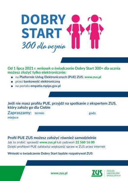 plakat programu Dobry Start z informacjami